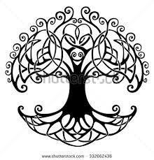 vector ornament decorative celtic tree stock vector 466882646