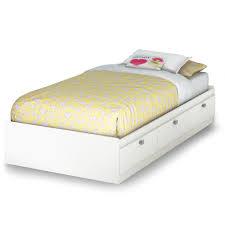 white metal twin headboard twin bed frame with storage decofurnish