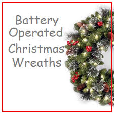battery operated wreaths best selection price