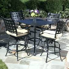 outdoor bar height table and chairs set bar height outdoor table getanyjob co