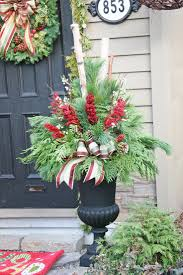 Window Box Decorations For Christmas Outdoor by Best 25 Outdoor Christmas Planters Ideas On Pinterest Christmas