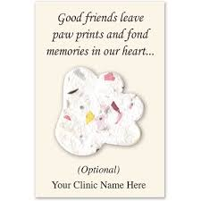 seed cards personalized plantable paper seed card paw pet memorial cards