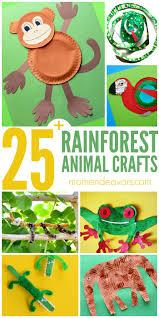 25 rainforest animal crafts for kids