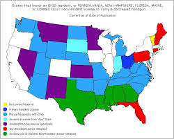 pa carry permit reciprocity map non resident licenses when the ohio concealed handgun license isn