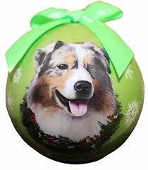 australian shepherd lovers australian shepherd christmas ornament amazon com