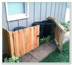 trash storage garbage bin outdoor trash can storage shed plans