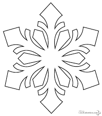 snowflake 4 nature u2013 printable coloring pages