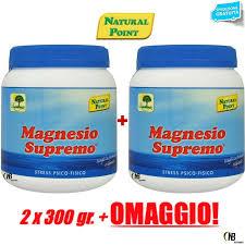 magnesio supremo composizione magnesio supremo point 2 x 300 gr antistress psico fisico