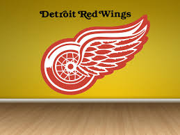 Flag It Stickers Detroit Red Wings Logo Wall Decal Red Wings Sticker Red
