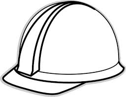 mailman hat coloring page hard hat template for teacher white hard hat 2 clip art vector