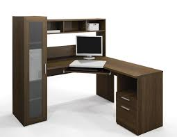 Solid Wood Computer Desk With Hutch by Photo Of Real Wood Computer Desk With Exquisite Home Office Brown