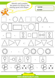 Free Printable Shapes Worksheets Kids Under 7 Pattern Recognition Worksheets