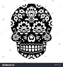 halloween background sugar skulls mexican sugar skull halloween skull flowers stock vector 665604658