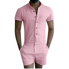 mens one jumpsuit mens sleeve jumpsuit casual cargo rompers one
