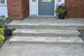 flagstone over concrete slabs over an existing concrete porch