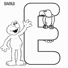 the letter e coloring pages kids coloring