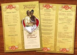 wedding reception program 8 wedding event program templates psd vector eps ai