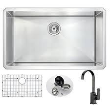 kitchen sink faucet set anzzi vanguard undermount stainless steel 32 in 0 hole kitchen sink