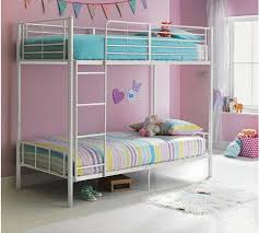 Buy HOME Maddison Single Bunk Bed Frame White At Argoscouk - White bunk beds uk