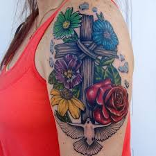cross tattoos designs for and flowertattooideas com