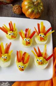 deviled egg turkeys sprinkle some