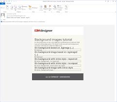 div background url background images in modern html emails edmdesigner