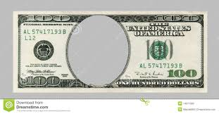 blank hundred dollar bank note with clipping patch royalty free