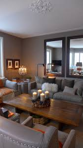 gray and orange living room decorating idea inexpensive creative