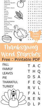 thanksgiving printable activities word search crossword puzzle