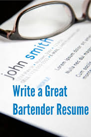 Mixologist Resume Example by How To Write A Great Bartender Resume U2022 A Bar Above