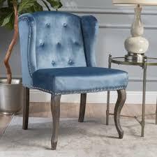 Velvet Wingback Chair Blue Velvet Wingback Chair Duke A Wingback Armchair In Tweed Duck