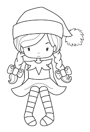 dress incredible coloring pages of elves with regard to house