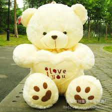 big teddy bears for valentines day hot 70cm big soft plush white teddy