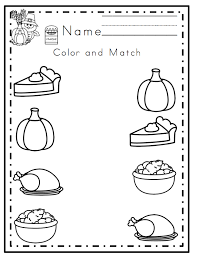 free thanksgiving worksheets for kindergarten worksheets