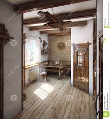 country style bath house 3d render stock illustration image