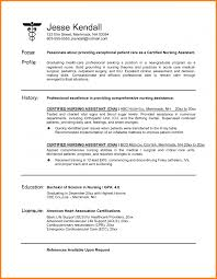Best Resume Sample For Nurses by 5 Certified Nursing Assistant Resume Resume Reference