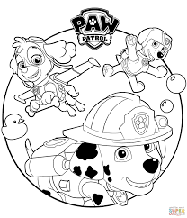 everest marshall and skye coloring page free printable coloring