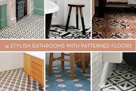 patterned tile bathroom eye candy 14 bold bathrooms with patterned floor tile curbly