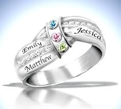 mothers ring with names mothers ring with names and birthstones mothers flush setting