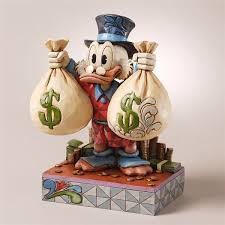 disney traditions scrooge mcduck figurine by jim shore