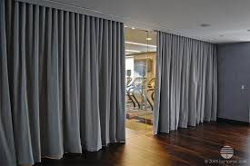 Fabric Room Divider Grey Gray Curtain Divider Room Separation Studio
