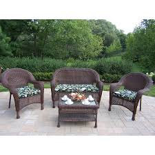 Hampton Bay Corranade 5 Piece - hampton bay corranade 5 piece wicker patio conversation set with