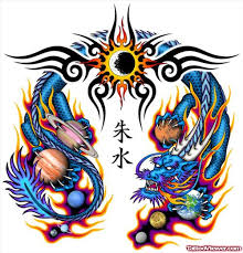 tribal and colored dragon tattoos design tattoo viewer com
