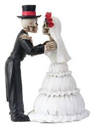 skeleton wedding cake toppers 4 inch day of the dead skeleton wedding