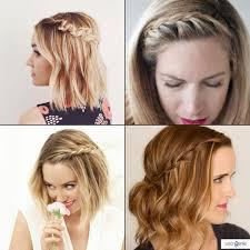 french braid short hair women medium haircut