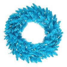 24 pre lit wreath sky blue white lights target