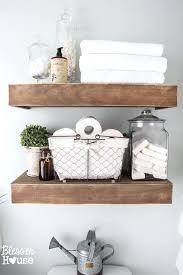 diy bathroom decor easy to build suspended shelves for rustic bathroom decor diy bathroom decor on diy bathroom decor easy