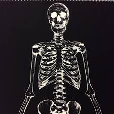 tt64 glow in the dark skeleton halloween quilt cotton quilting