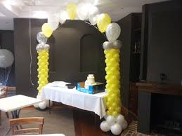 cake and balloon delivery string of pearl arch on top of 2 columns looks great the