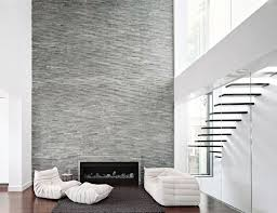 staircase with stone wall thin brick manufactured veneer retaining